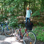 Fahrradtour durch schöne Landschaft