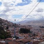 Blick über Cusco auf unserem Fussmarsch vom Campingplatz nach nach unten