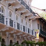 sehr schön restaurierte Häuser