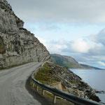 Die Fahrt zum Nordkapp ist spektakulär ...