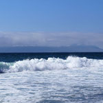 Der Strand von unserem Stellplatz aus gesehen