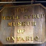 Besuch im Maple-Syrup-Museum (haben noch keinen gekauft!)