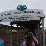 der Ankunfts-Flughafen auf der Isla Baltra