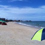 aber ein schöner Strand bei Ebbe - bei Flut bleibt nicht viel zum sitzen