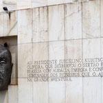 Denkmal für den Präsidenten Kubitschek, der Initiator zur Erbauung dieser Stadt