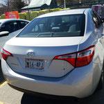 unser Auto (das Kleinste, was wir bekommen konnten)!!!