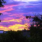 und am letzten Abend geht die Sonne noch einmal spektakulär unter...