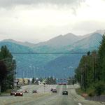 Ausfahrt von Anchorage