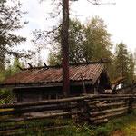 Hütten der Goldgräber