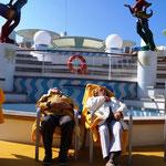 zurück auf dem Schiff wird wieder relaxt