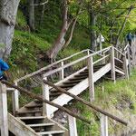 418 Stufen zu bewältigen