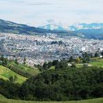 wir fahren mit der Gondel (30 Minuten) runter in das Dorf Las Lajas ...