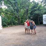 Abschiedsfoto von den beiden Brasilianern Monika und Delvan