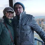 auf dem Aussichtsturm in Oberbärenburg...