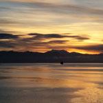 mit feinstem Sonnenaufgang kommen wir in Puerto Montt an