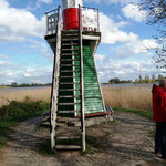 zur Spitze, wo sich die Elbe teilt ..