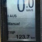 insgesammt gefahrene Kilometer mit dem Radel