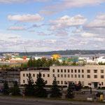 Blick auf den Hafen von Anchorage
