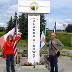 in Delta Junction - endet der Alaska Highway