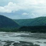 typisches Flussbett in Alaska