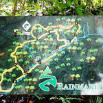 Unsere Wanderroute im Regenwald