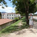 auf dem Stadtwall in Lucca