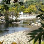 Caracho am Fluss