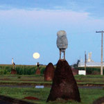 - und der Mond ist am Morgen auch noch da