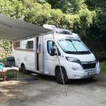 Ankunft auf netten Campingplatz - wir sind die ersten Deutschen hier in diesem Jahr
