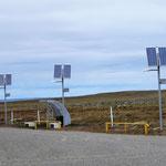 mit Solar beläuchteter Parkplatz