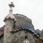 Häuser  von Antoni Gaudi - ziemlich verrückt