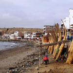traditionelle Boote in Huanchaco