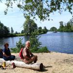 ein Ausflug mit den Rädern am Havelkanal