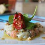 Tartare de saumon et st jacques