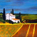 Landschaft in der Toscana (2008) 40 x 80 cm