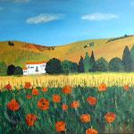 Mohn in der Toscana (2007) 70 x 100 cm