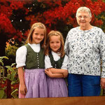 Great grandma with Amelie and Luisa