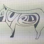 こちらは動物の形にあわせて文字をゆがませるサイケデリック型