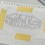 ロゴ制作STEP3:対称性を重視して全体の統一感をだす