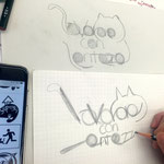 「労働の拒否」の意のイタリア語をネコ形にトランスフォーム