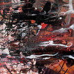 "Lost paradise   2013   Mixed media on canvas   70x50cm   27.6""x19.7"""