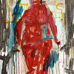 "Untitled   2014   Mixed media on canvas   130x100cm   51.2""x39.4"""