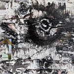 """Eye of the storm   2013   Mixed media on canvas   50x70cm   19.7""""x27.6"""""""