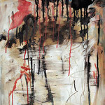 "Bygone   2014   Mixed media on canvas   70x50cm   27.6""x19.7"""