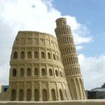 Thema Italien: Koloseum und schiefe Turm von Pisa. 2007 Tossens/ Deutschland