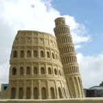 Theme Italy: Colosseum and tower of Pisa.Tossens/ Germany 2007