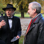 Staatssekretär Martin Gorholt kam zur Eröffnung der Skulpturenlinie (Foto S+D)