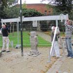 06.10.2011 Standortsuche, die Figur wird zur Bearbeitung aufgestellt