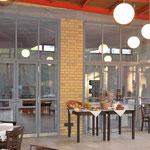 Frühstücksraum im Bauhaus-Ensemble