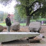 05.10.2011 Bereitstellung der Steine
